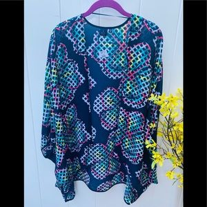 Kaari Blue size L/XL cardigan floral design